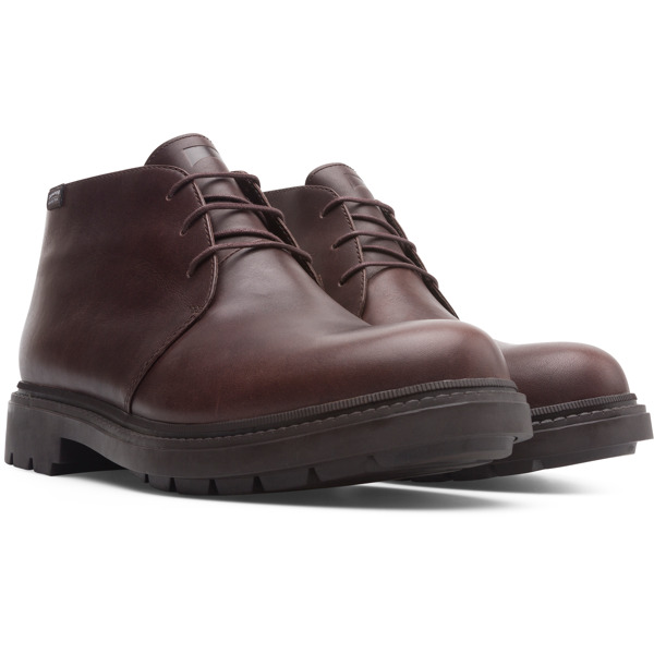 Camper Hardwood Brown Ankle Boots Men K300027-006