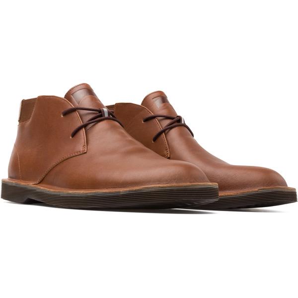 Camper Morrys Brown Ankle Boots Men K300035-024