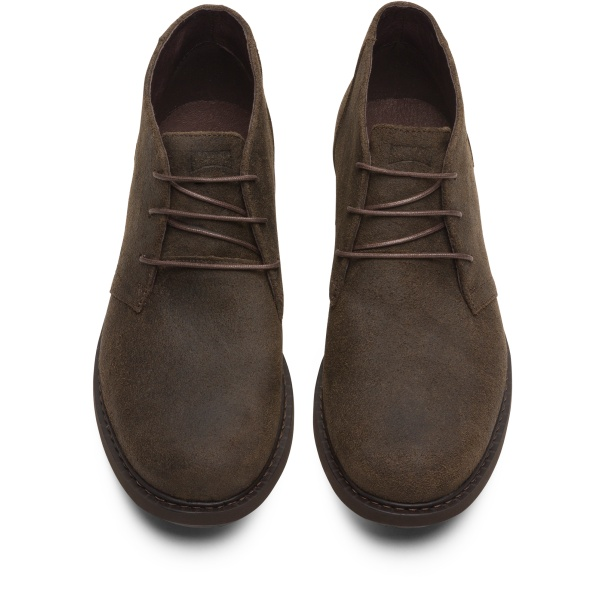Camper Neuman Brown Gray Ankle Boots Men K300171-011