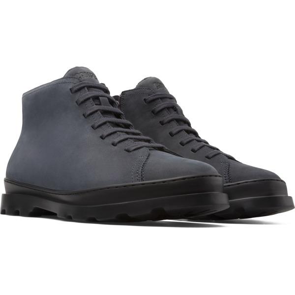 Camper Brutus Grey Ankle Boots Men K300175-003