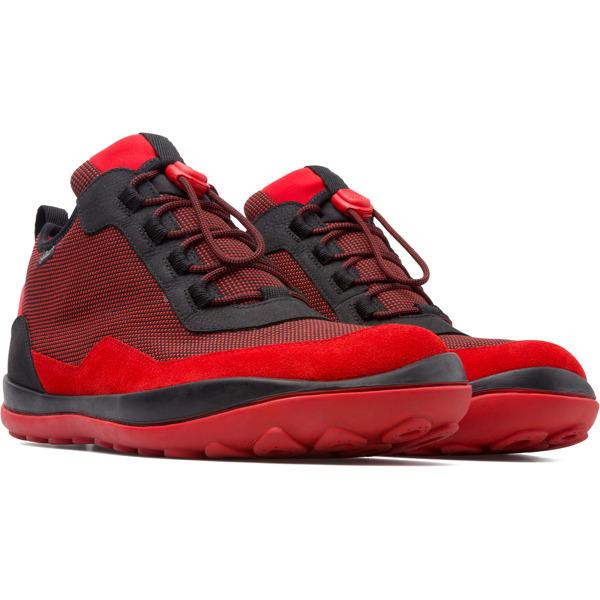 Camper Peu Pista Red Ankle Boots Men K300196-001