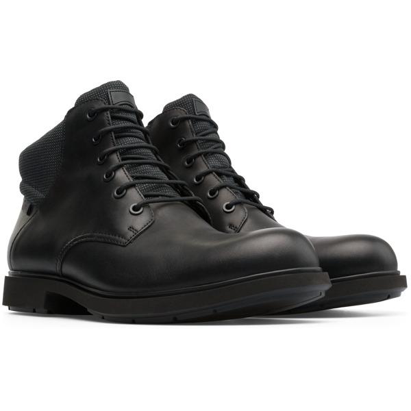 Camper Neuman Black Ankle Boots Men K300199-001