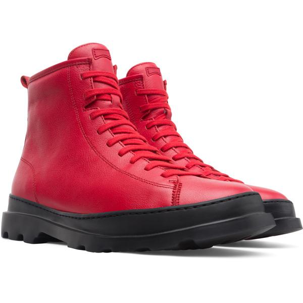 Camper Brutus Red Ankle Boots Men K300245-005