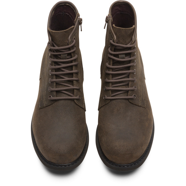 Camper Neuman Brown Gray Ankle Boots Men K300284-002