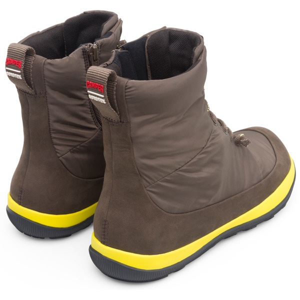 Camper Peu Pista Brown Gray Ankle Boots Men K300288-002
