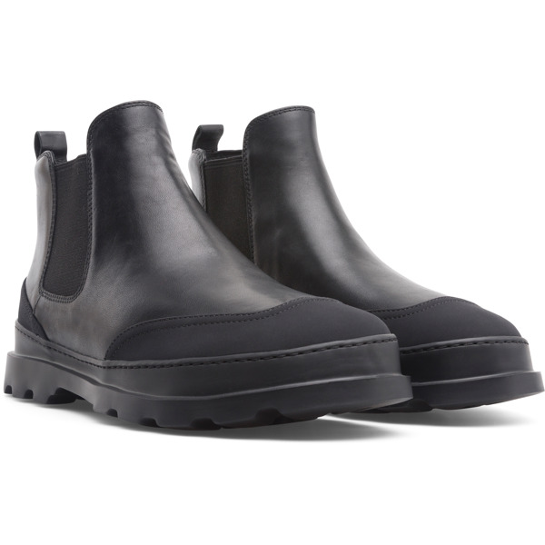 Camper Brutus Black Ankle Boots Men K300291-001