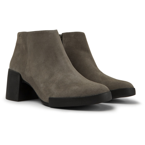 Camper Lotta Grey Ankle Boots Women K400145-007