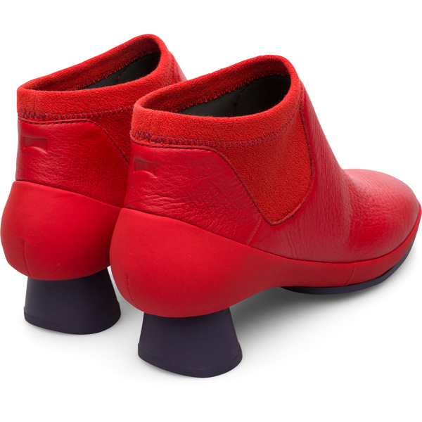Camper Alright Red Ankle Boots Women K400218-015