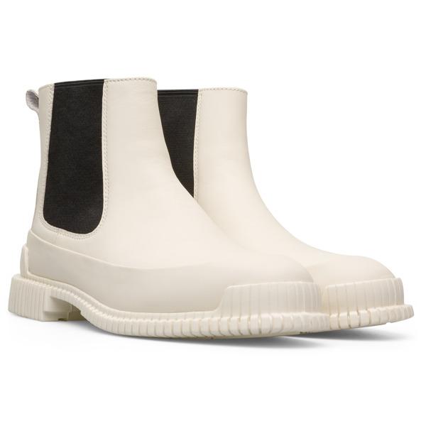 Camper Pix Beige Ankle Boots Women K400304-009