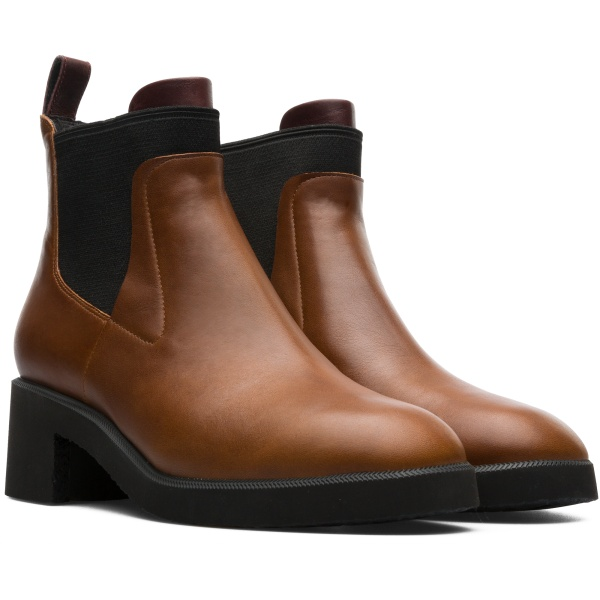 Camper Wonder Brown Ankle Boots Women K400319-003