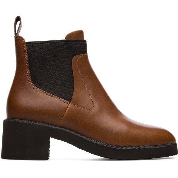Camper Wonder Brown Ankle Boots Women K400319-006
