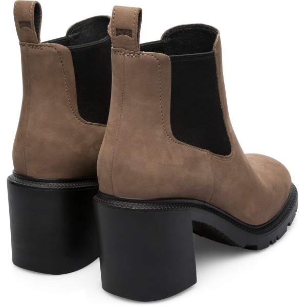 Camper Whitnee Grey Ankle Boots Women K400327-005
