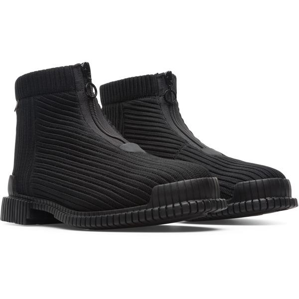 Camper Pix Black Ankle Boots Women K400356-001