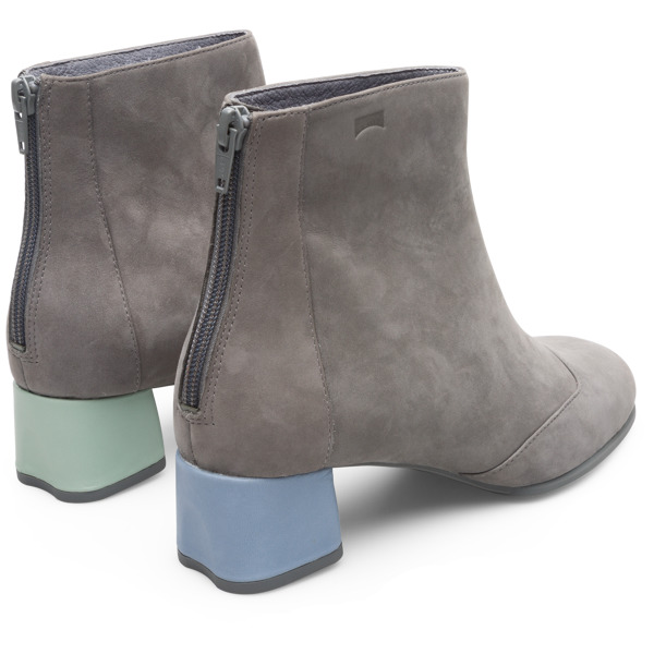Camper Twins Grey Ankle Boots Women K400359-002