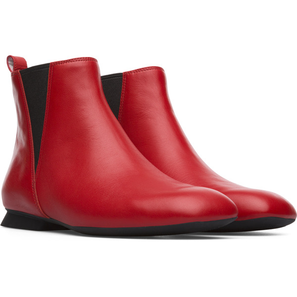 Camper Casi Myra Red Ankle Boots Women K400366-001