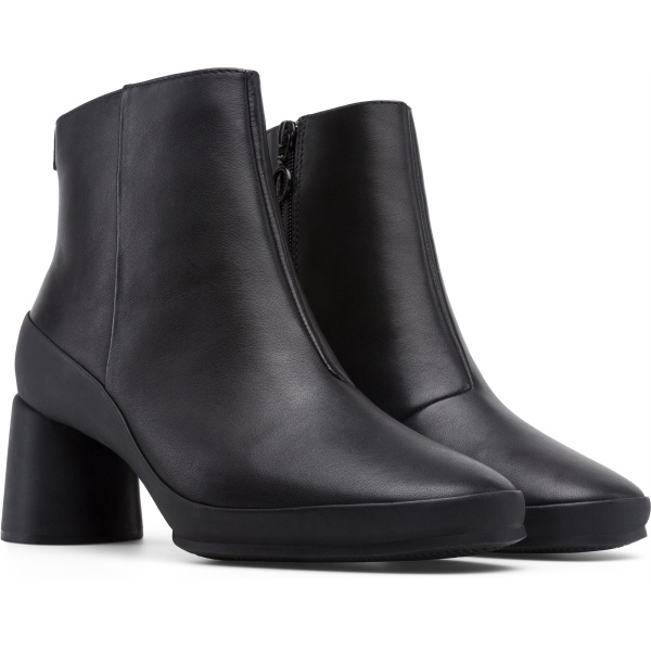 Camper Upright Black Ankle Boots Women K400371-001