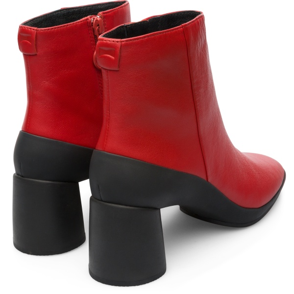 Camper Upright Red Ankle Boots Women K400371-003