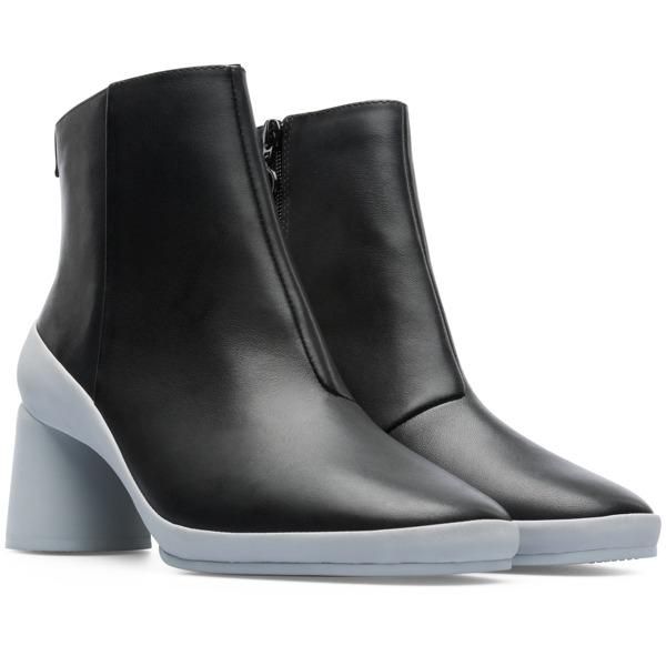Camper Upright Black Ankle Boots Women K400371-006