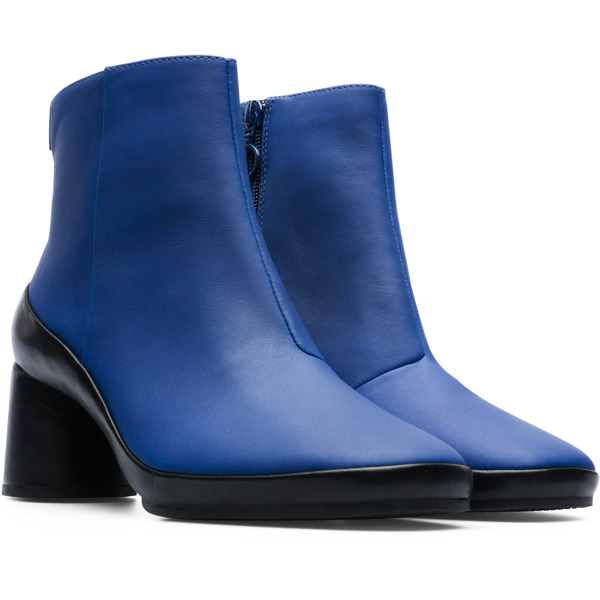 Camper Upright Blue Ankle Boots Women K400371-007