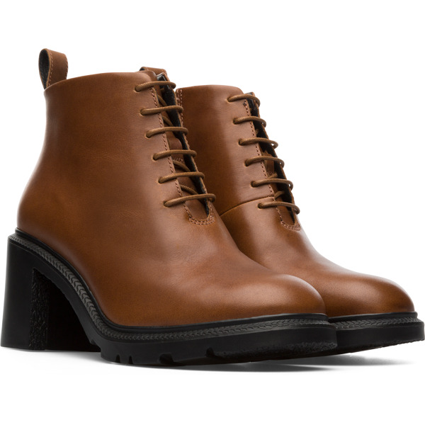 Camper Whitnee Brown Ankle Boots Women K400381-002