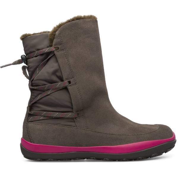 Camper Peu Pista Brown Gray Boots Women K400386-006