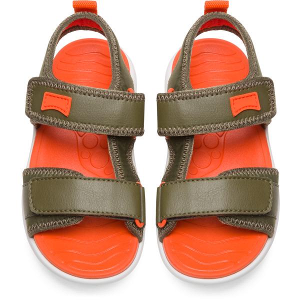 Camper Wous Green Sandals Kids K800238-004