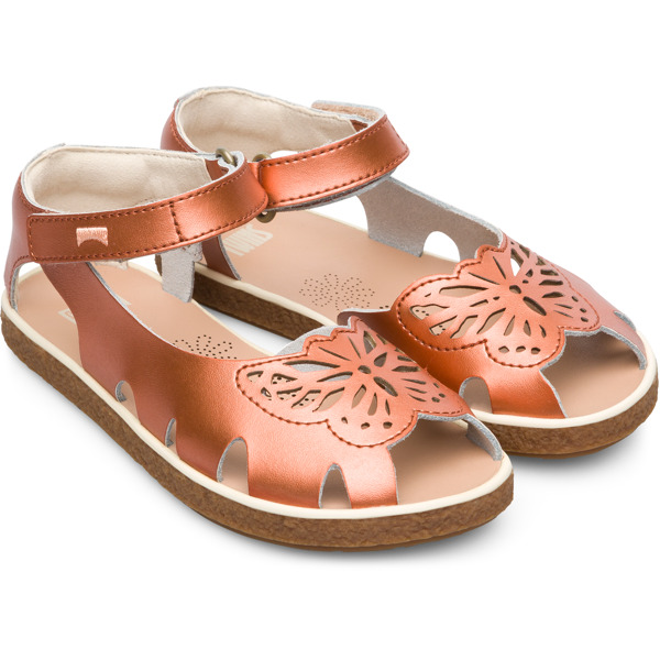 Camper Twins Brown Sandals Kids K800300-001