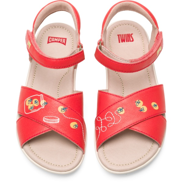 Camper Twins Pink Sandals Kids K800301-001