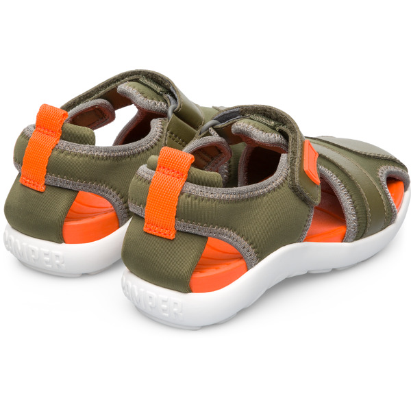 Camper Wous Green Sandals Kids K800302-001