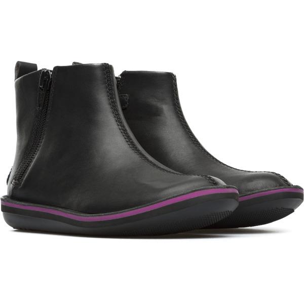 Camper Beetle  Black Boots Kids K900088-001