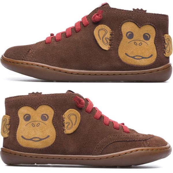 Camper Twins Brown Ankle Boots Kids K900121-001