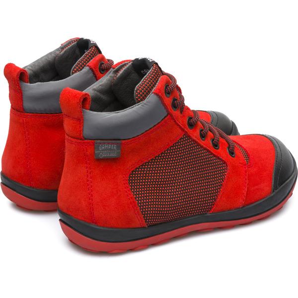 Camper Peu Pista Red Ankle Boots Kids K900124-001