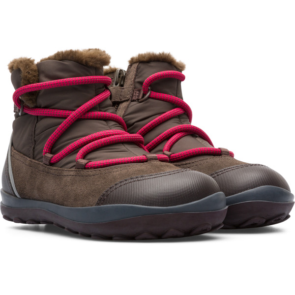 Camper Peu Pista Brown Gray Boots Kids K900217-001