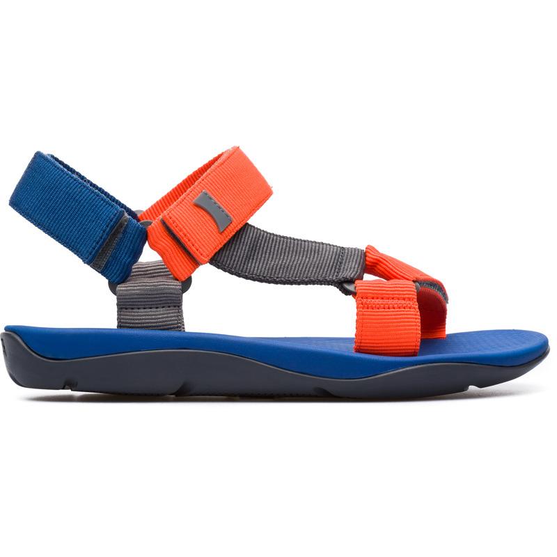 Camper Match, Sandalen Herren, Orange/|Grau/|Blau, Größ|e 39 (EU), 18824-045 | Schuhe > Sandalen & Zehentrenner > Sandalen | Orange/grau/blau | Textile | CAMPER