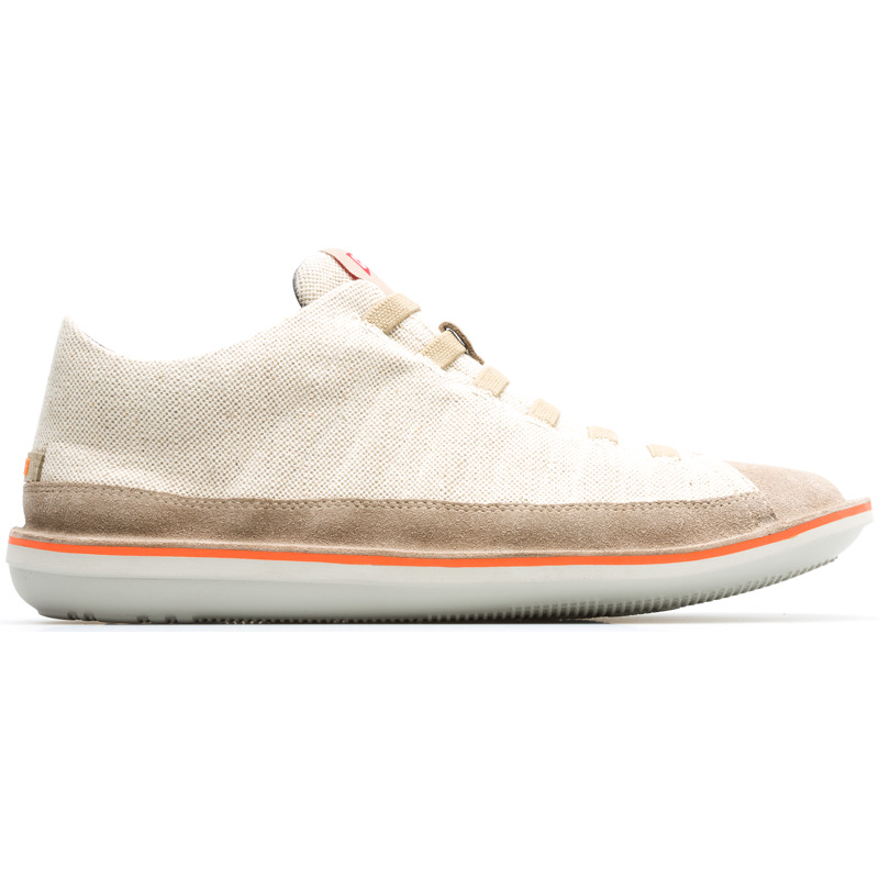Camper Beetle, Casual shoes Men, Beige , Size 6 (US), 36791-036 - Woven fabric (60% cotton and 40% linen) Color: light beige and beige Lightweight. Non-slip rubber outsole. Cushioned insole Outsole: EVA Ultra lightweight with great thermal insulation properties. Lining: 65 % Polyester 27 % Fabric (60% Nylon - 40% PU) 8 % Pigskin - A Camper Icon that evolves with every season, our Beetle mens ankle boots are lightweight and flexible, with a sealed construction that combines an anatomic shape with original design.