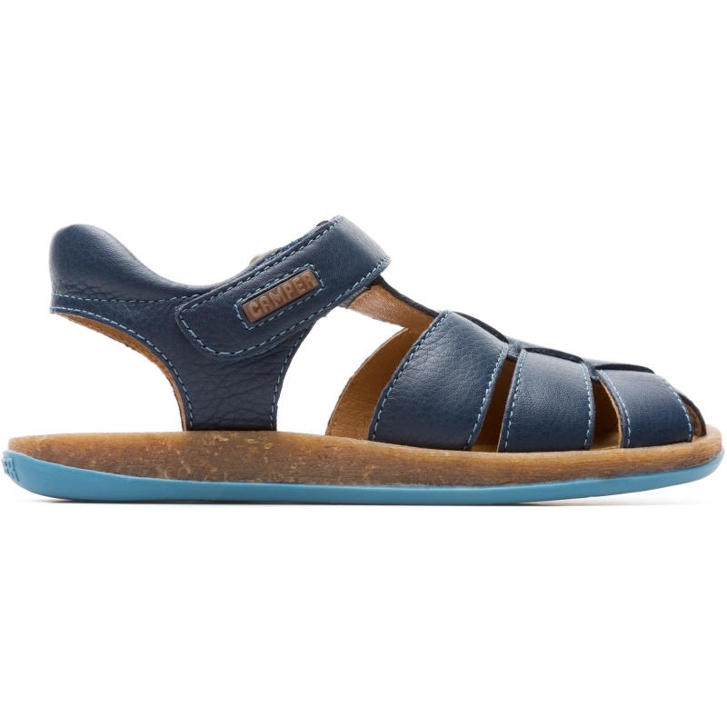 Camper Bicho, Sandals Kids, Blue , Size 25 (US), 80177-045 - Smooth texturized leather Color: navy Outsole: Rubber Added grip and flexibility with excellent shock resistance. Lining: 73 % Pigskin 27 % Fabric (60% Nylon - 40% PU) - Our Bicho boys\\\' sandals offer an adjustable design and an ergonomic footbed made of rubber and recycled rice husks for natural movement.