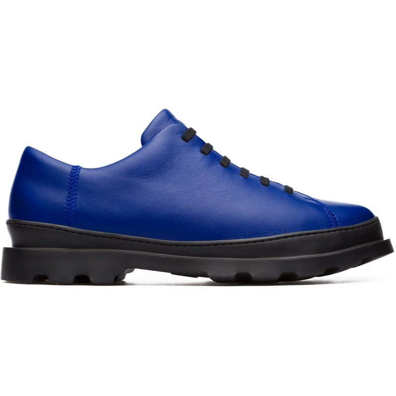 Camper Brutus, Formal shoes Men, Blue , Size 6 (US), K100245-012 - Smooth leather Color: Blue EVA rugged cupsole: Extraordinary lightweight and good grip Removable PU footbed: Comfort and Correct fit Stitched cupsole: Durability Leather Working Group Certified Lining: 51% Fabric (60% Nylon - 40% PU) 49% Polyester - Our Brutus men\\\'s shoes combine excellent flexbility with lightweight soles and a cushioned footbed to create a dynamic, urban look.