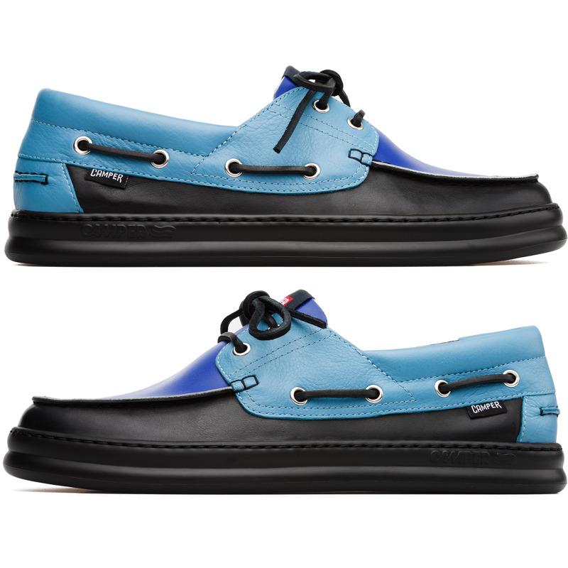 Camper Twins, Sneaker Herren, Blau&#47|Schwarz, 44 (EU), K100325-001 | Schuhe | Blau/schwarz | Glattleder | CAMPER