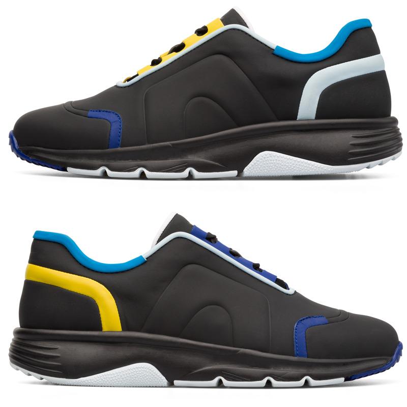 Camper Twins, Sneaker Herren, Schwarz|Blau|Gelb, Größ|e 39 (EU), K100488 002