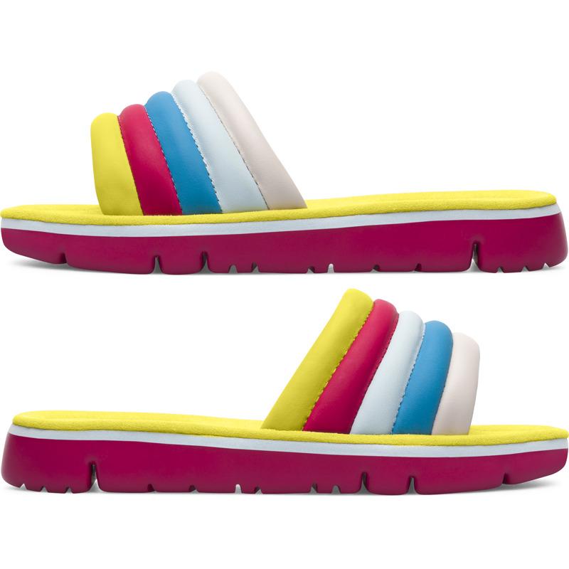 Camper Twins, Sandalen Damen, Gelb/|Blau/|Rosa , Größ|e 35 (EU), K200905-002 | Schuhe > Sandalen & Zehentrenner | Gelb/blau/rosa | Glattleder | CAMPER