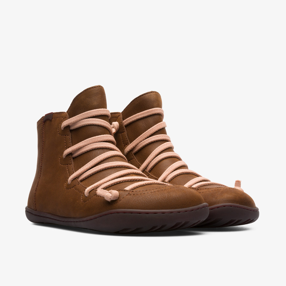 Camper Peu Brown Ankle Boots Women 46104-097