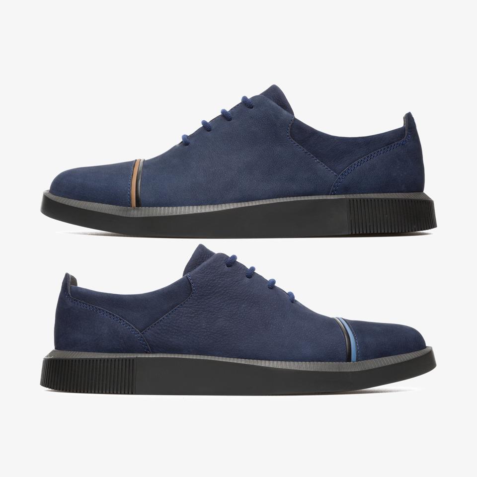 Camper Twins K100388 001 Zapatos de vestir hombre Azul