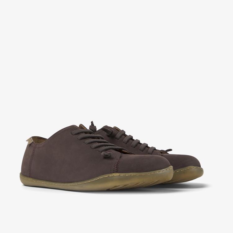 Camper Peu Cami 17665 Homme 011 marron Chaussures En Cuir Baskets Taille 8-12