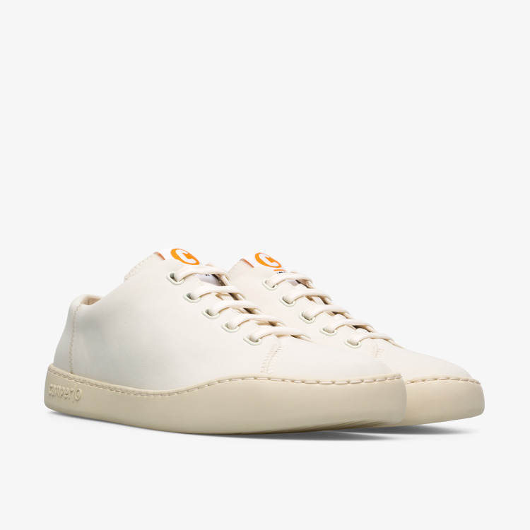 Camper Peu Touring Mens White Leather Casual Trainers