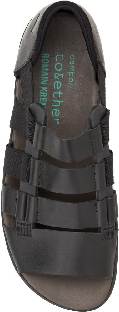 Black Leather Sandals For Men Camper Kremer