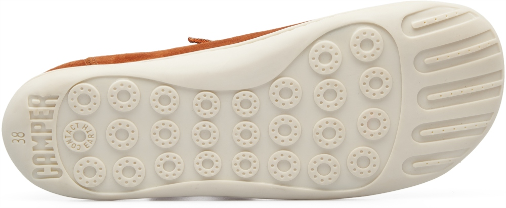 Camper Peu Brown Flat Shoes Women 20848-115