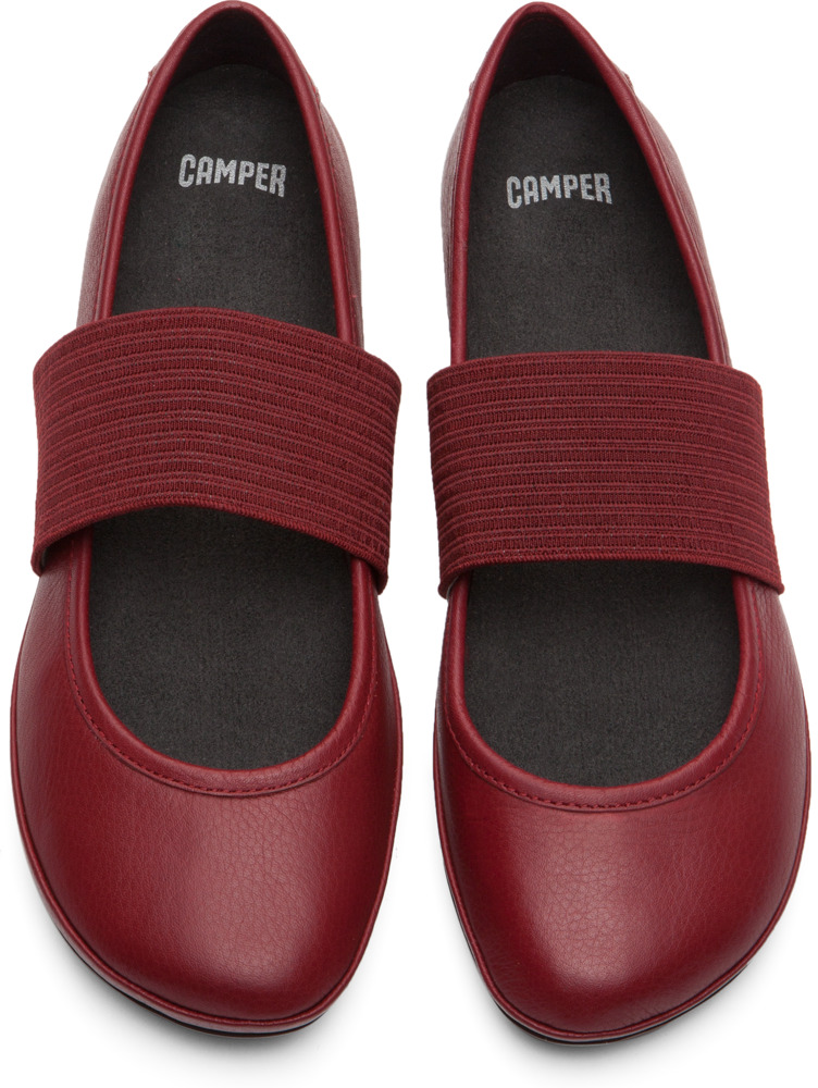 Camper Right Red Flats Women 21595-084