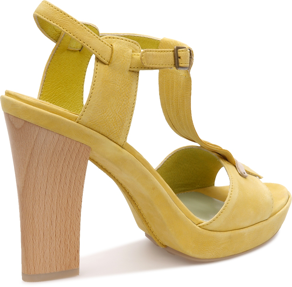 Camper CHANTAL  Yellow Flats Women 21602-002