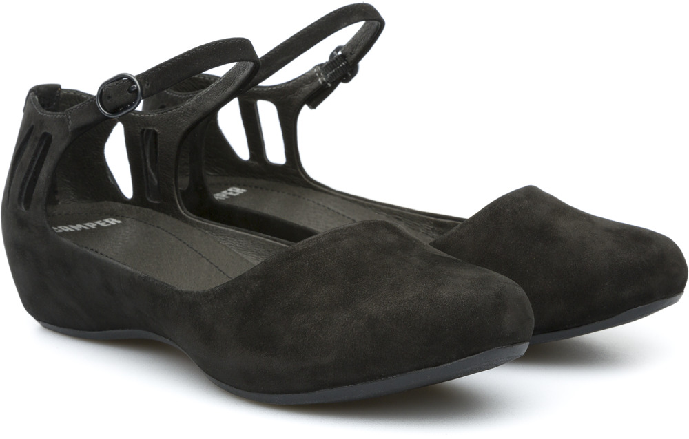 Camper Sinuosa Black Flats Women 21620-001