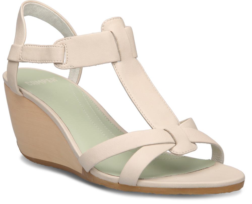 Camper LAURA Beige Sandals Women 21624-003